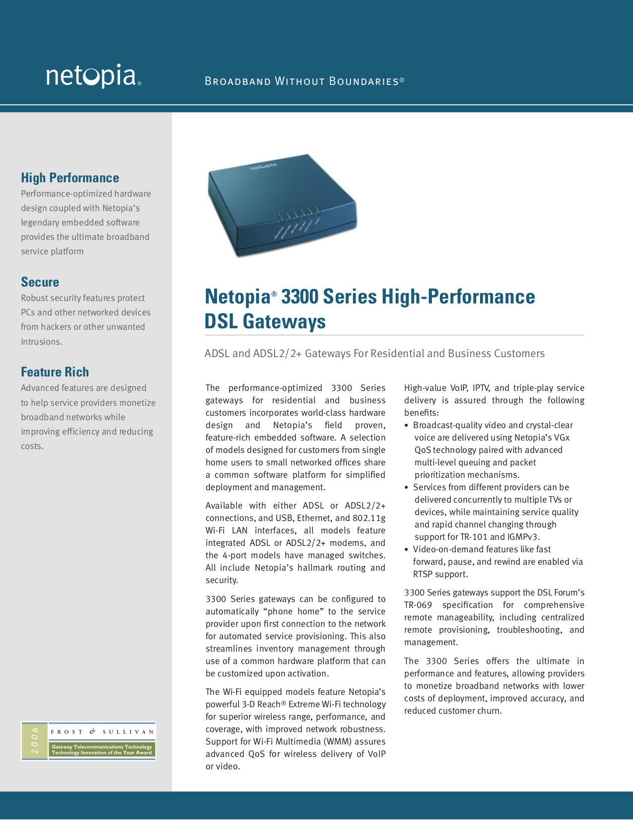 pdf for Netopia Wireless Router 3347W manual