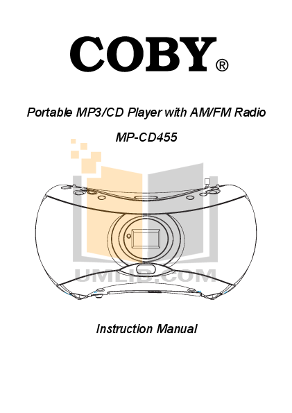 pdf for Coby Boombox MP-CD455 manual