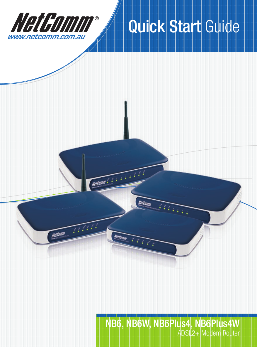 pdf for Netcomm Router NB6Plus4 manual
