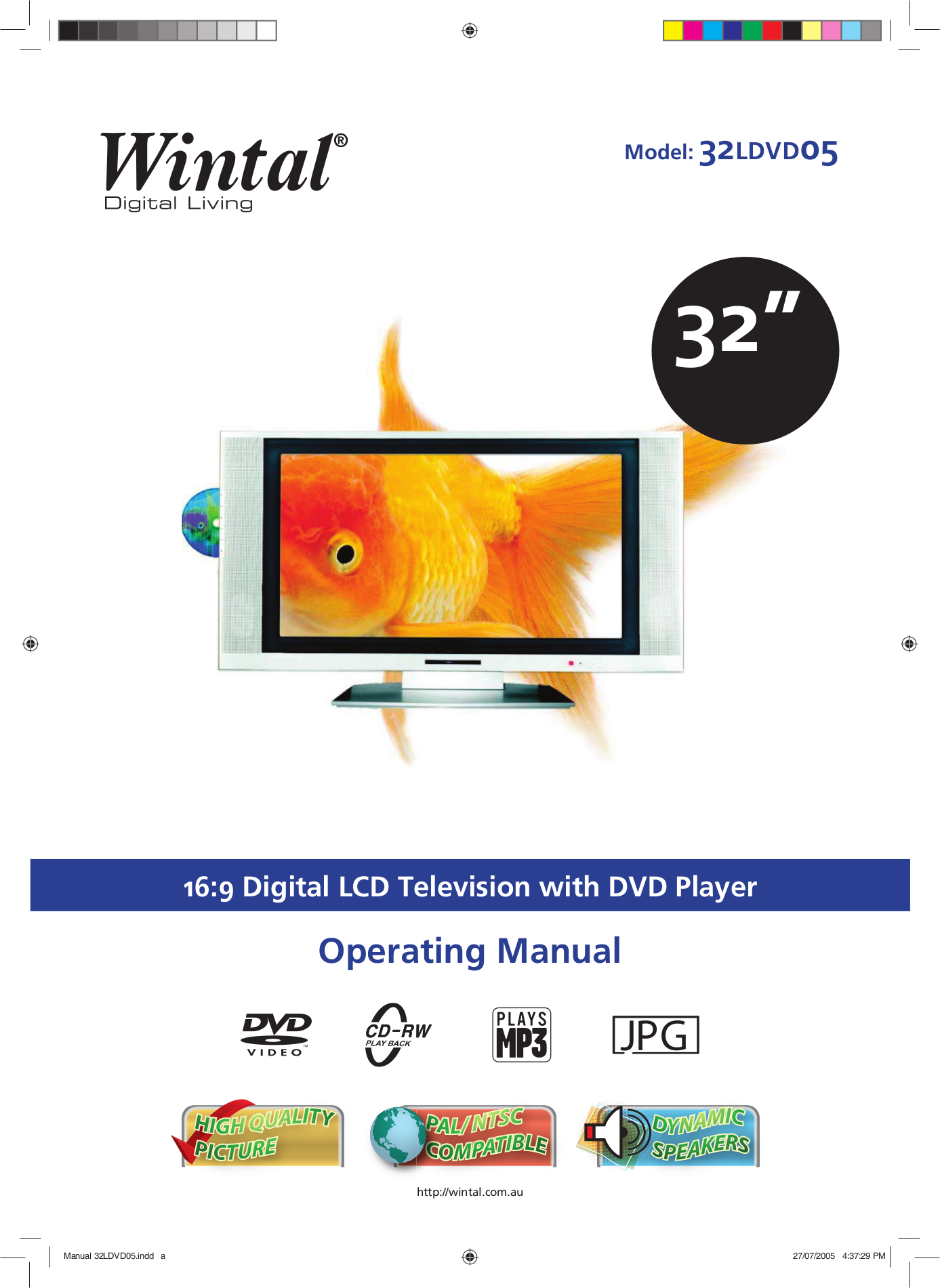 Wintal TV 32LDVD05 pdf page preview