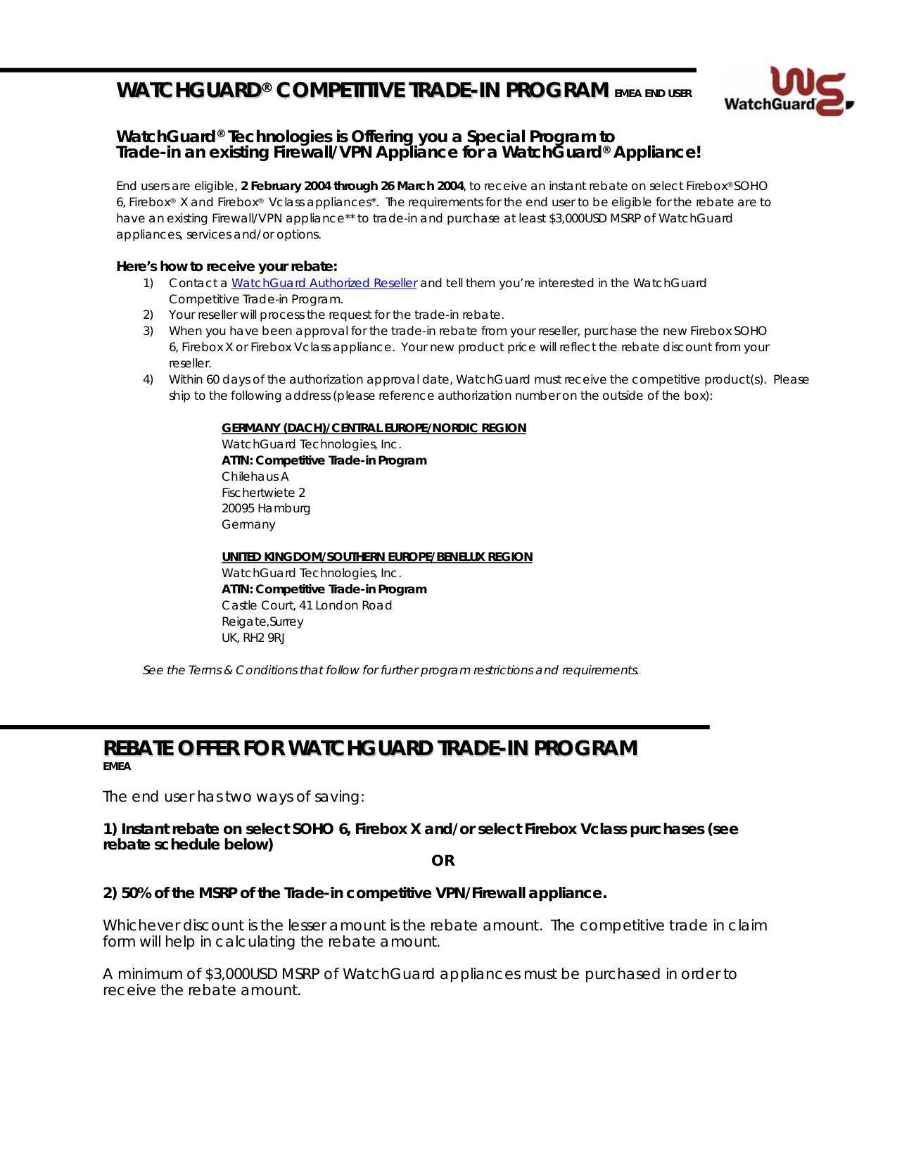 pdf for Watchguard Other Firebox V60L Firewall manual