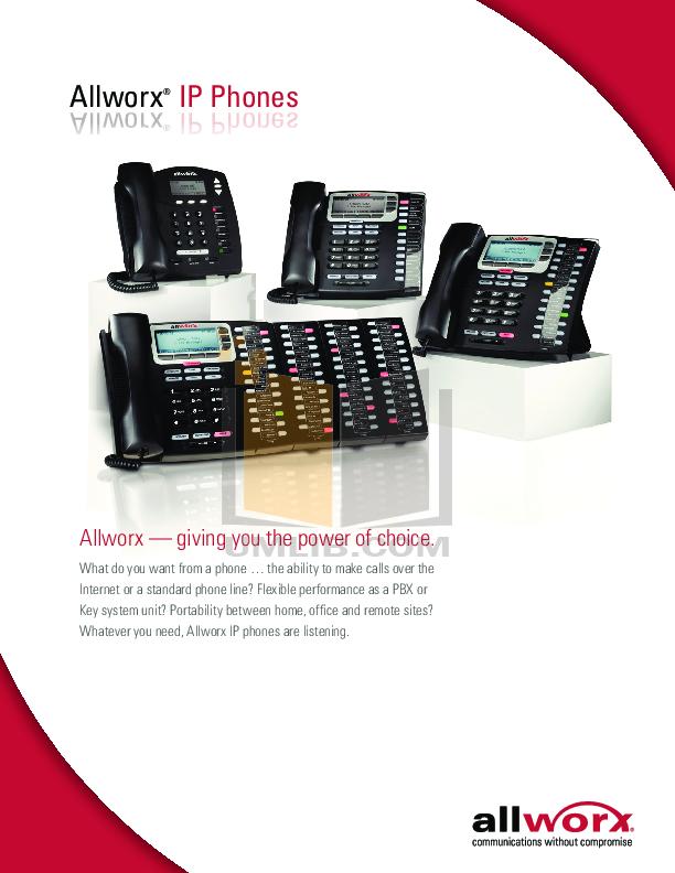 pdf for Allworx Telephone 9202 manual