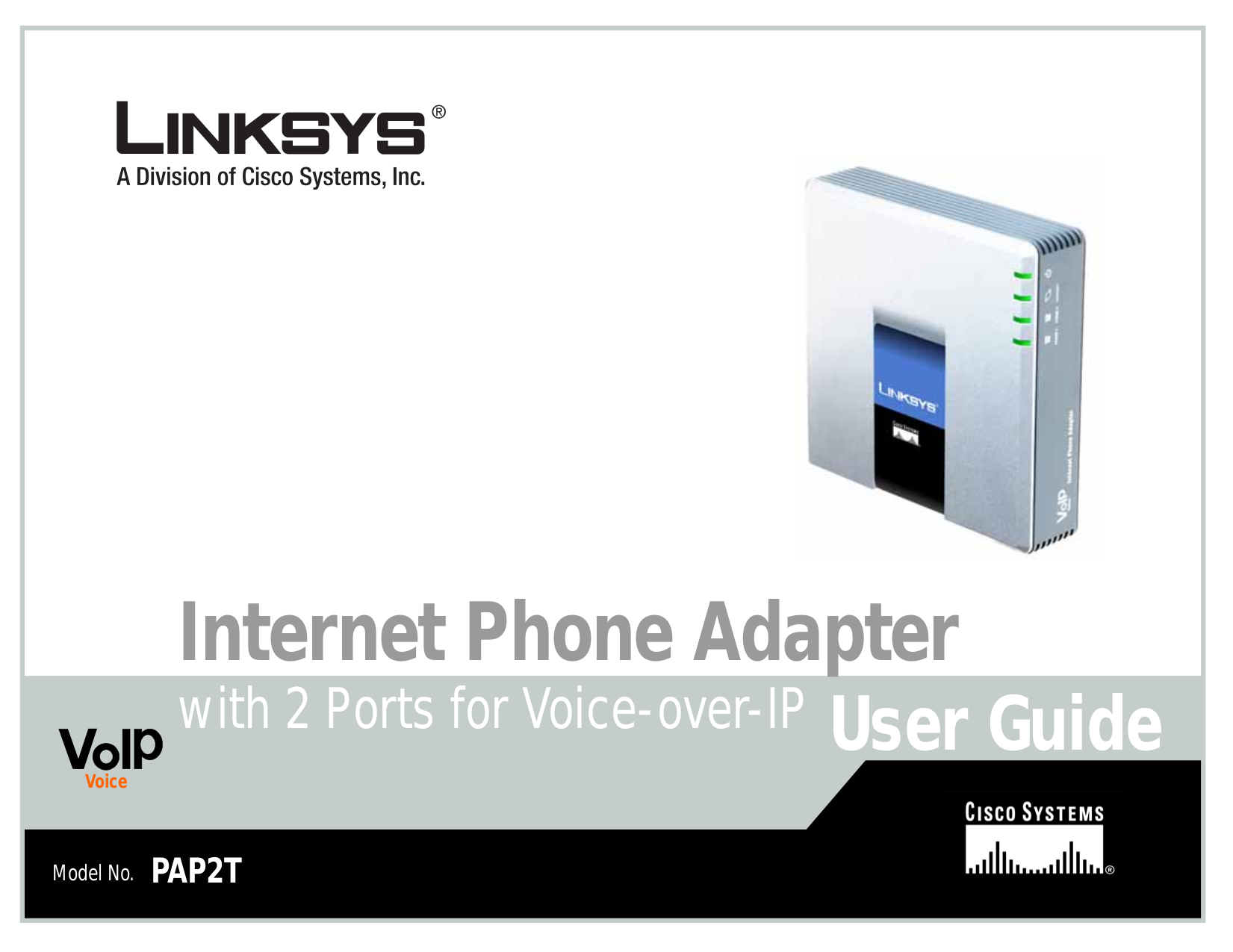 pdf for Linksys Telephone PAP2T manual