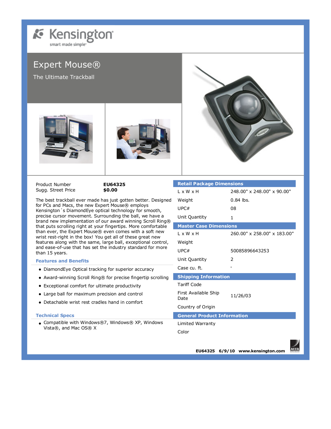 pdf for Kensington Keyboard Pro Fit K64408US manual