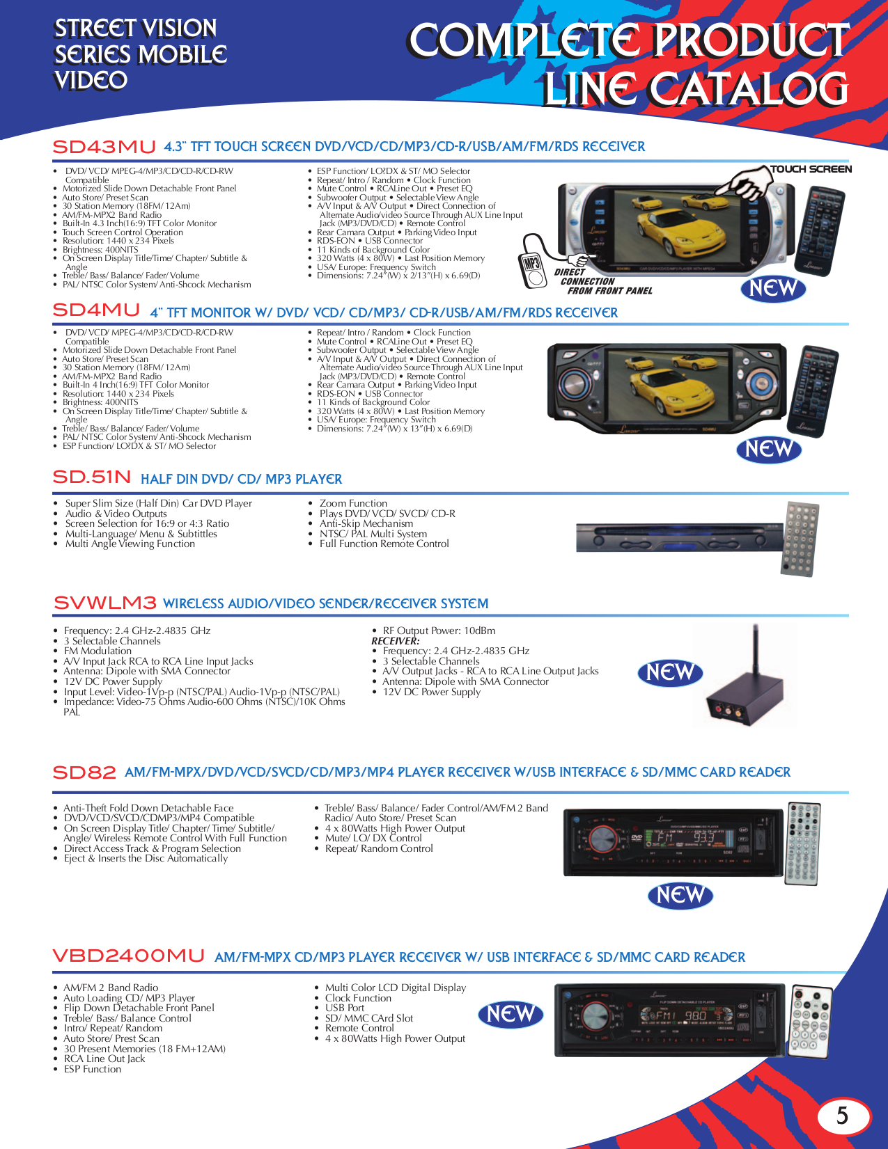Lanzar Subwoofer OPTI1532D pdf page preview