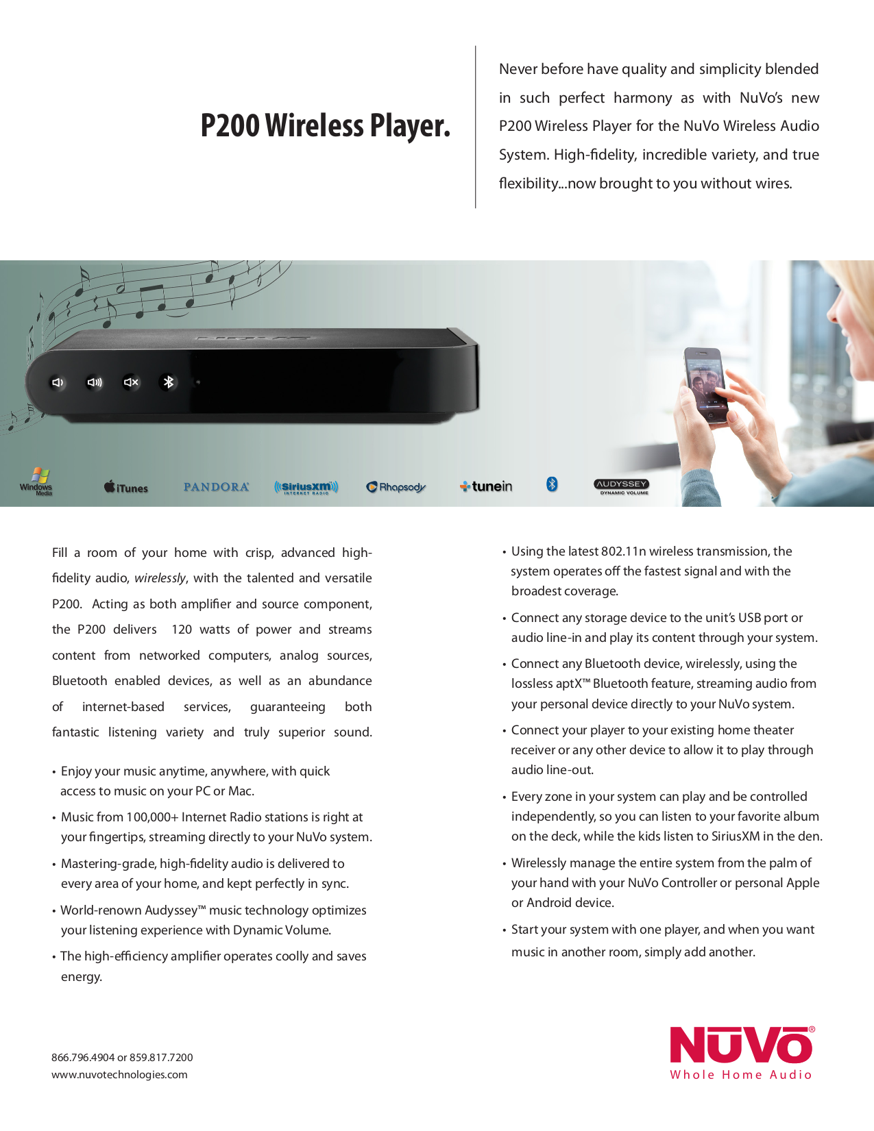 pdf for Nuvo Home Theater Essentia V.2 manual