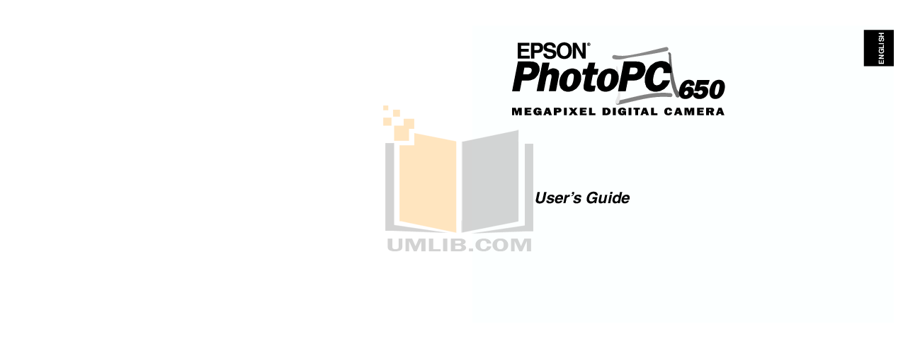 pdf for Epson Digital Camera PhotoPC 650 manual