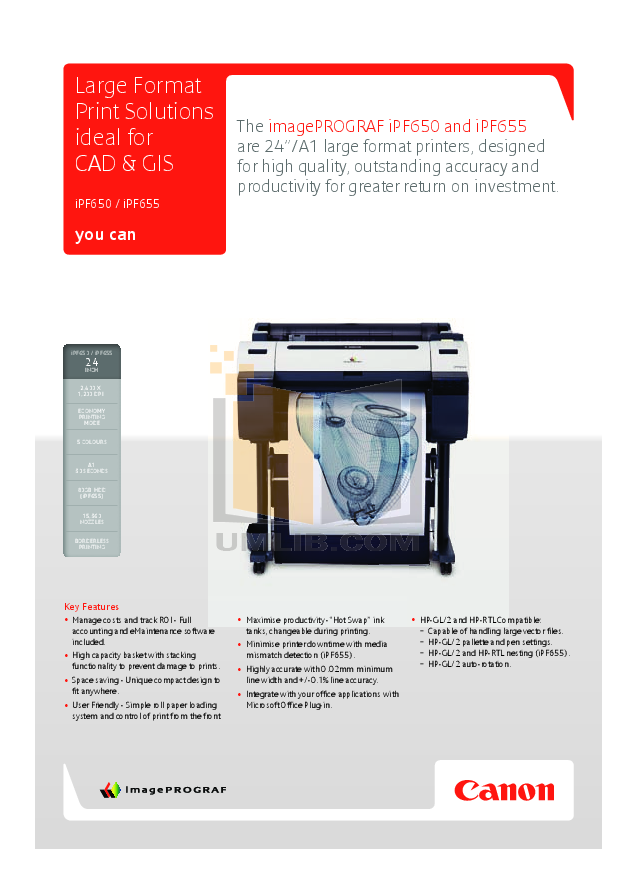 pdf for Canon Printer imagePROGRAF iPF650 manual