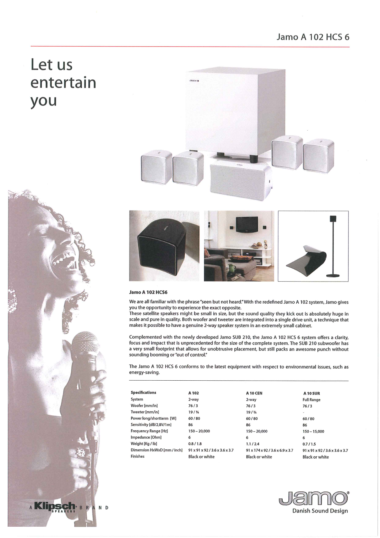 pdf for Jamo Home Theater A 102 HCS 10 manual