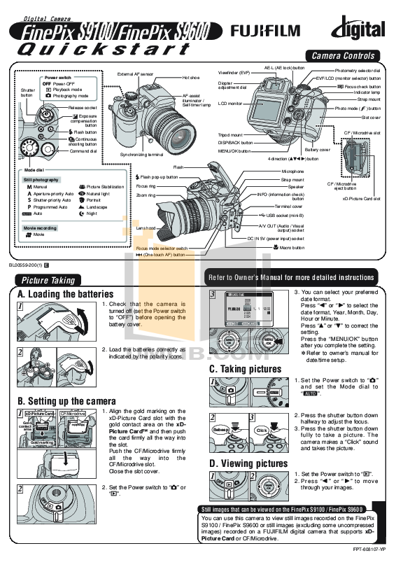 Fuji S9100 camera manual
