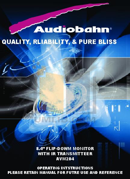 pdf for Audiobahn Car Video AVM284V manual