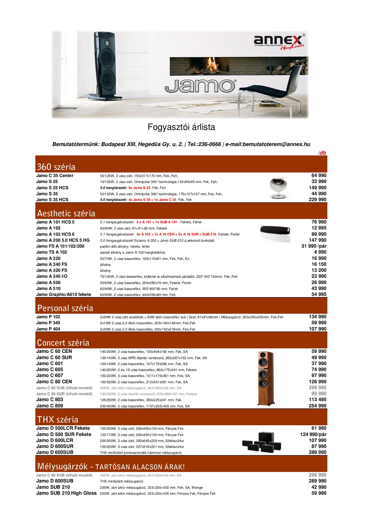 pdf for Jamo Subwoofer C 80 manual