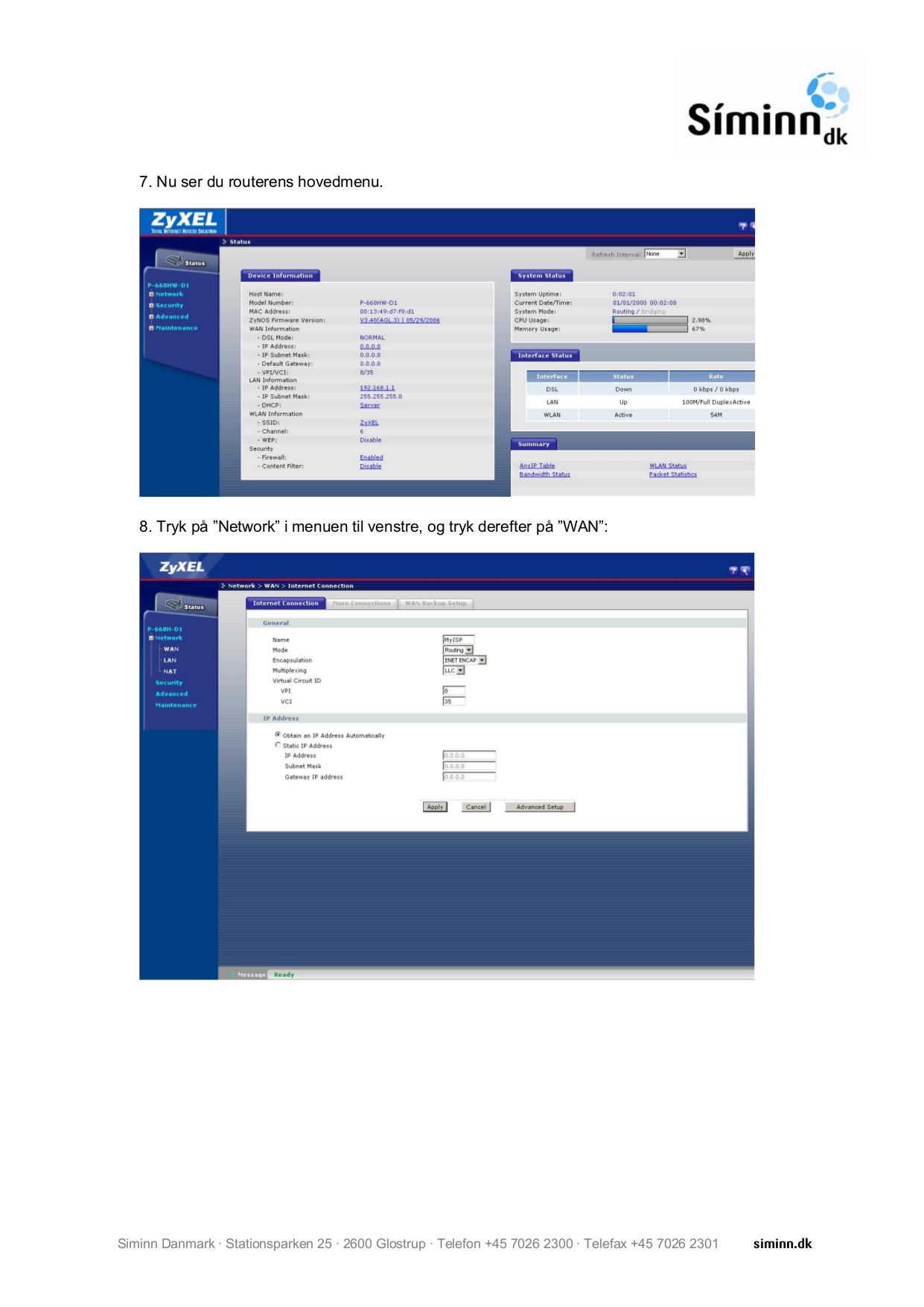 Zyxel P-660h-d1 Manual Download