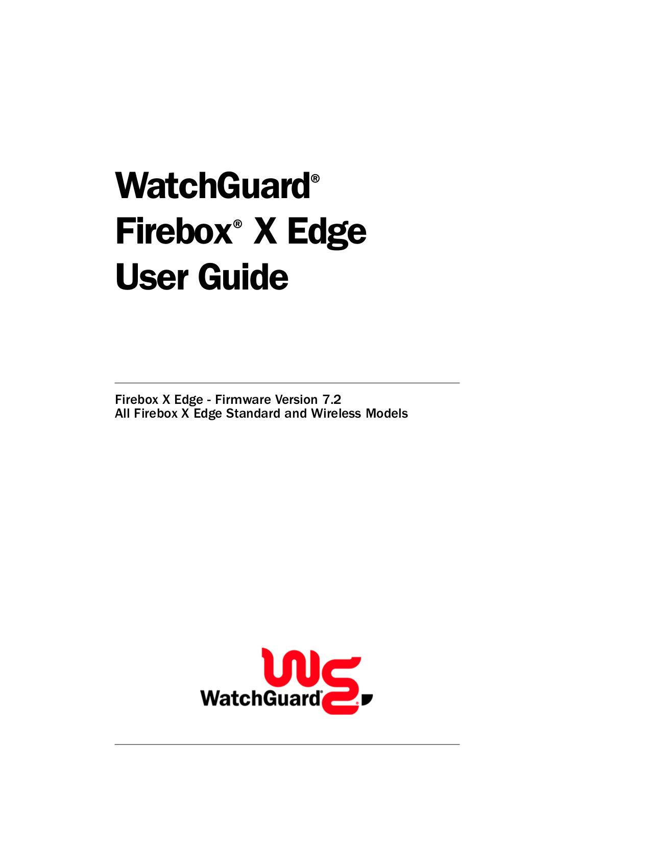 pdf for Watchguard Wireless Router Firebox X10E-W manual