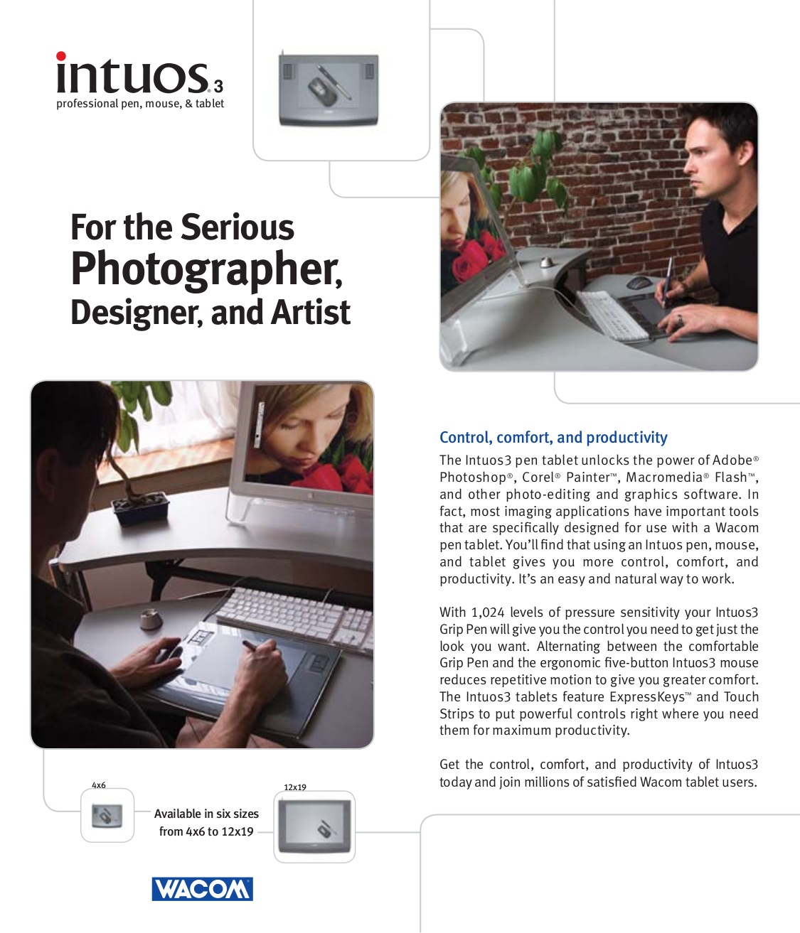 pdf for Wacom Mouse Intuos3 9x12 manual