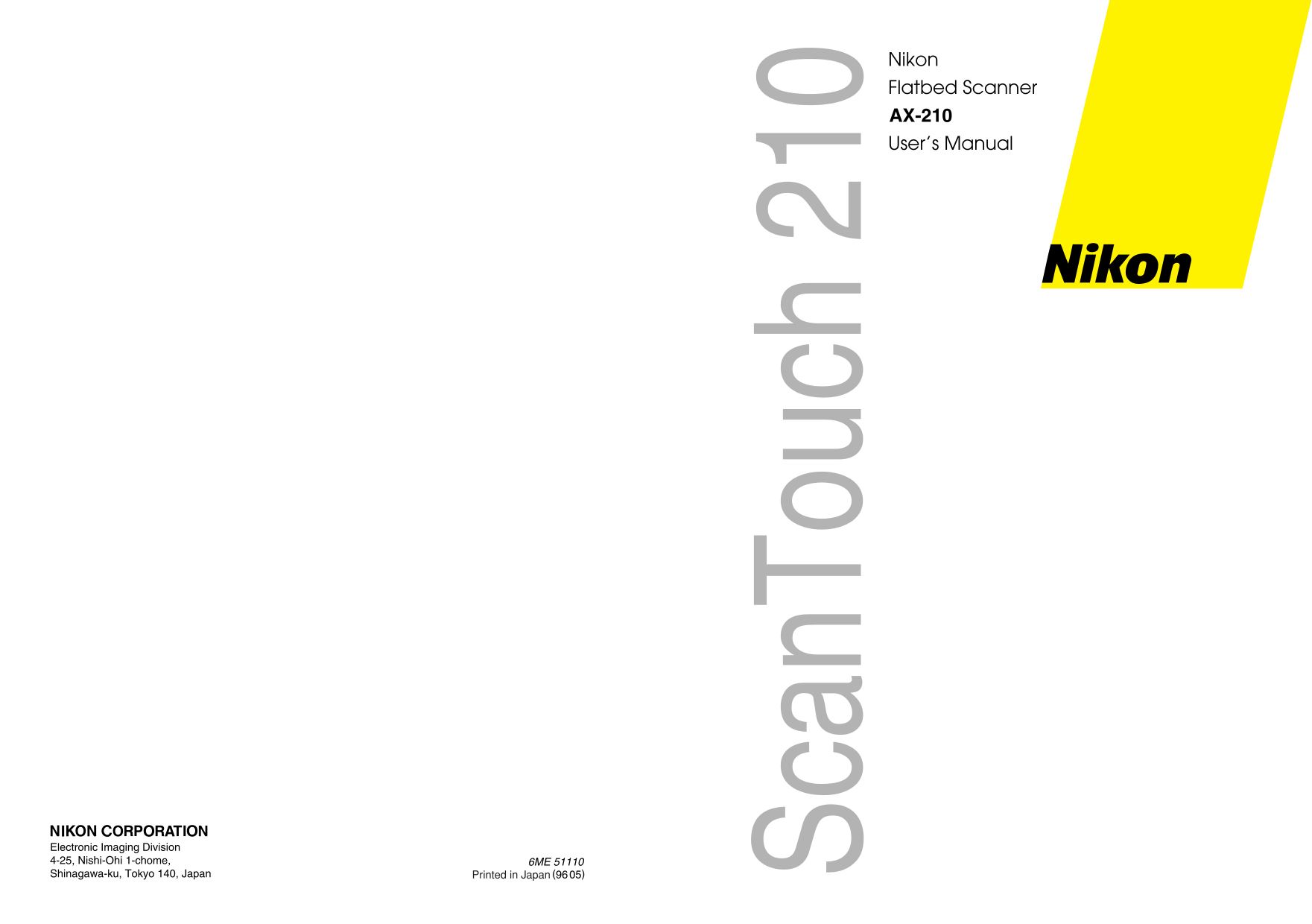 pdf for Nikon Scanner AX-210 manual