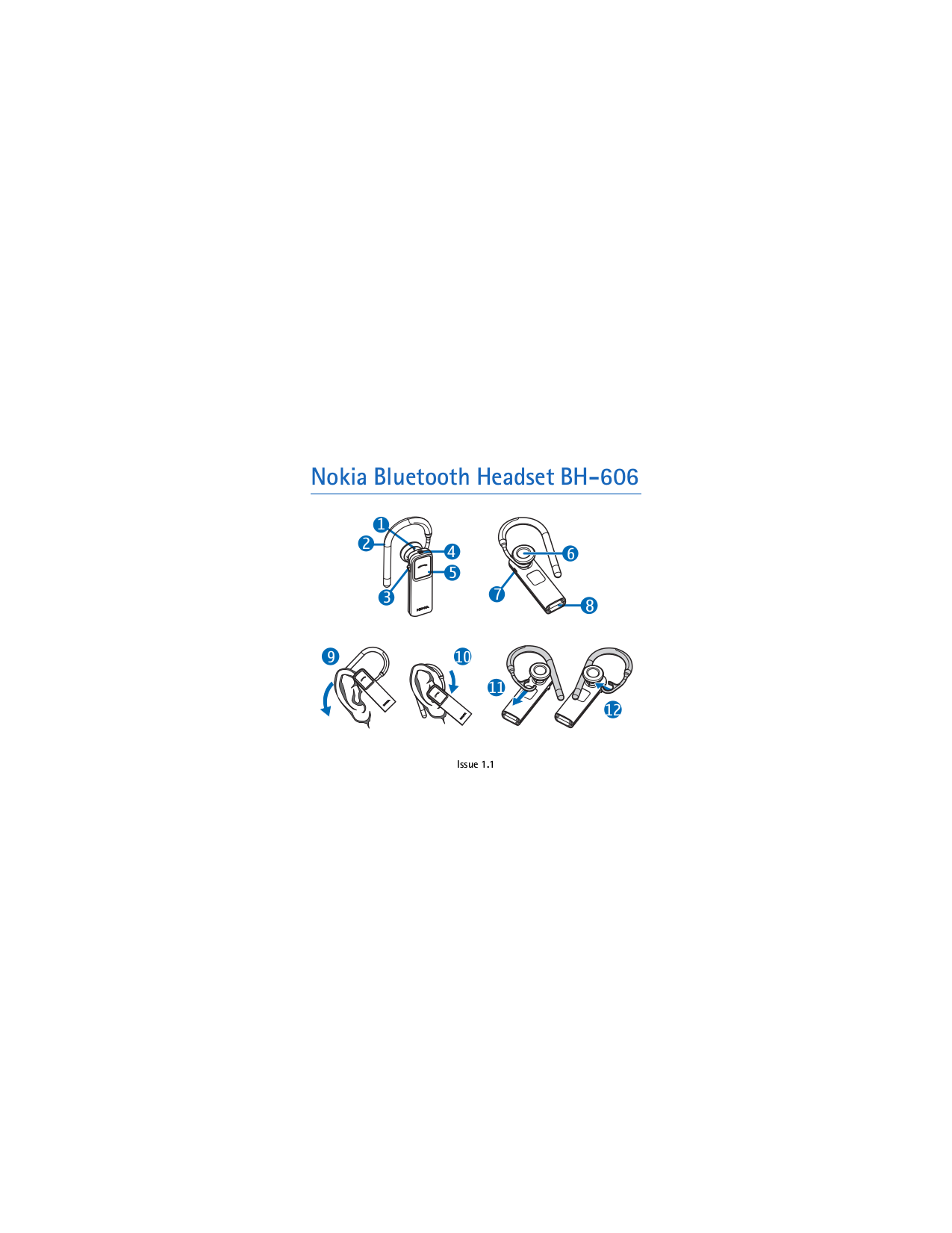 pdf for Nokia Headset BH-606 manual