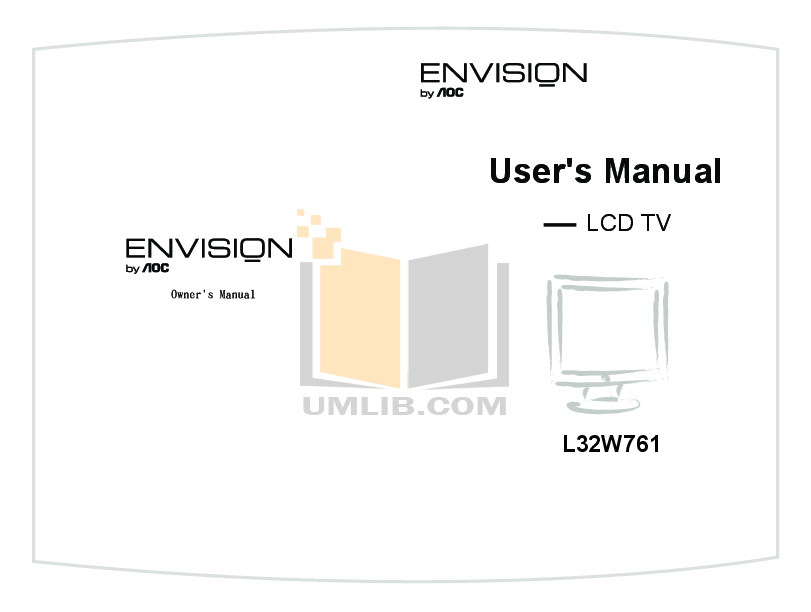 pdf for AOC TV L32W761 manual