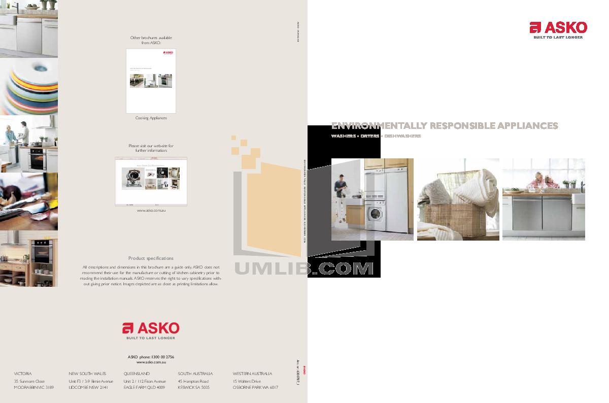 pdf for Asko Dryer T712C manual