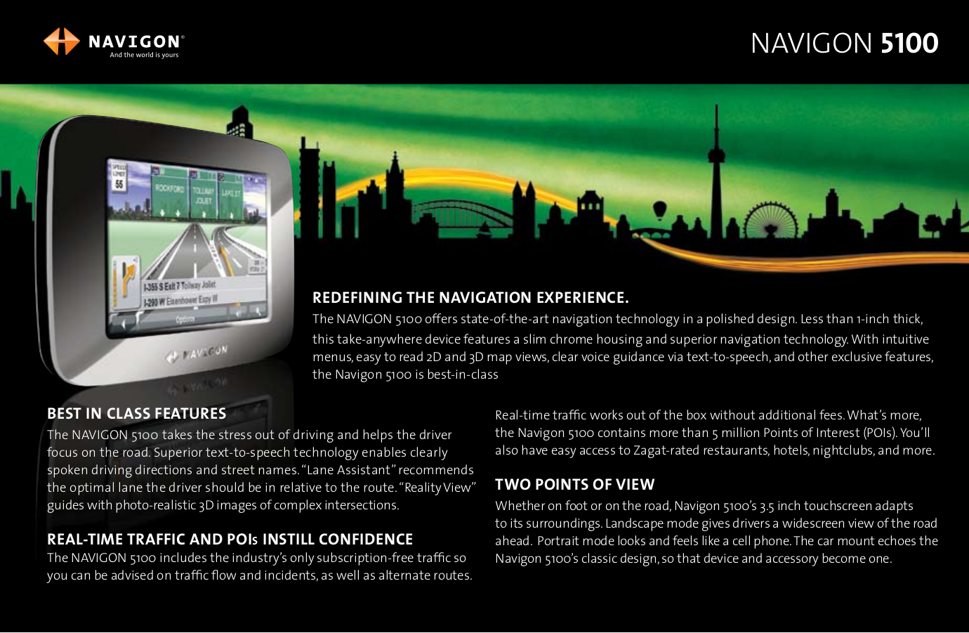 pdf for Navigon GPS 5100 manual
