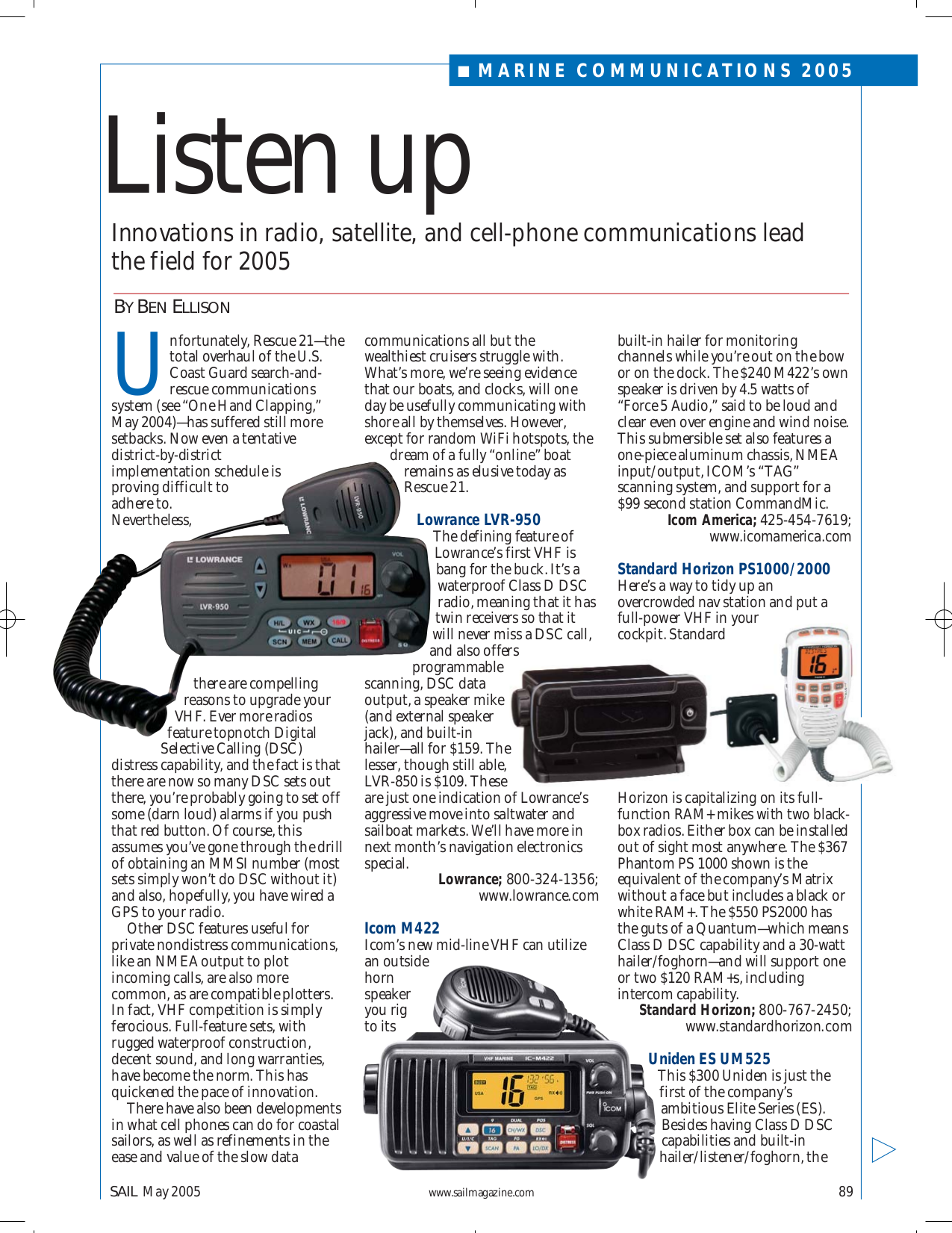 pdf for Lowrance Radio LVR-850 manual