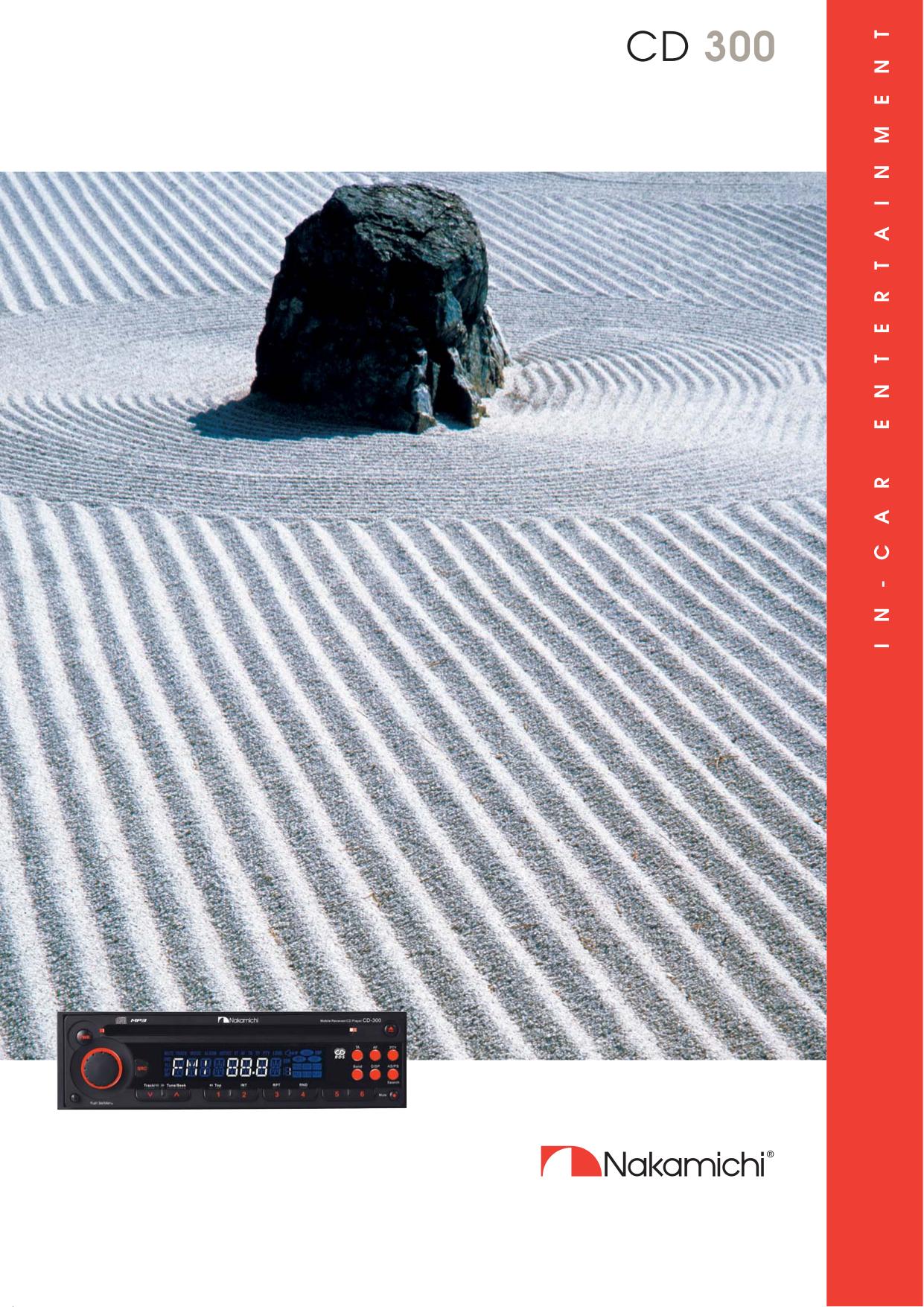 pdf for Nakamichi Car Receiver CD 300 manual