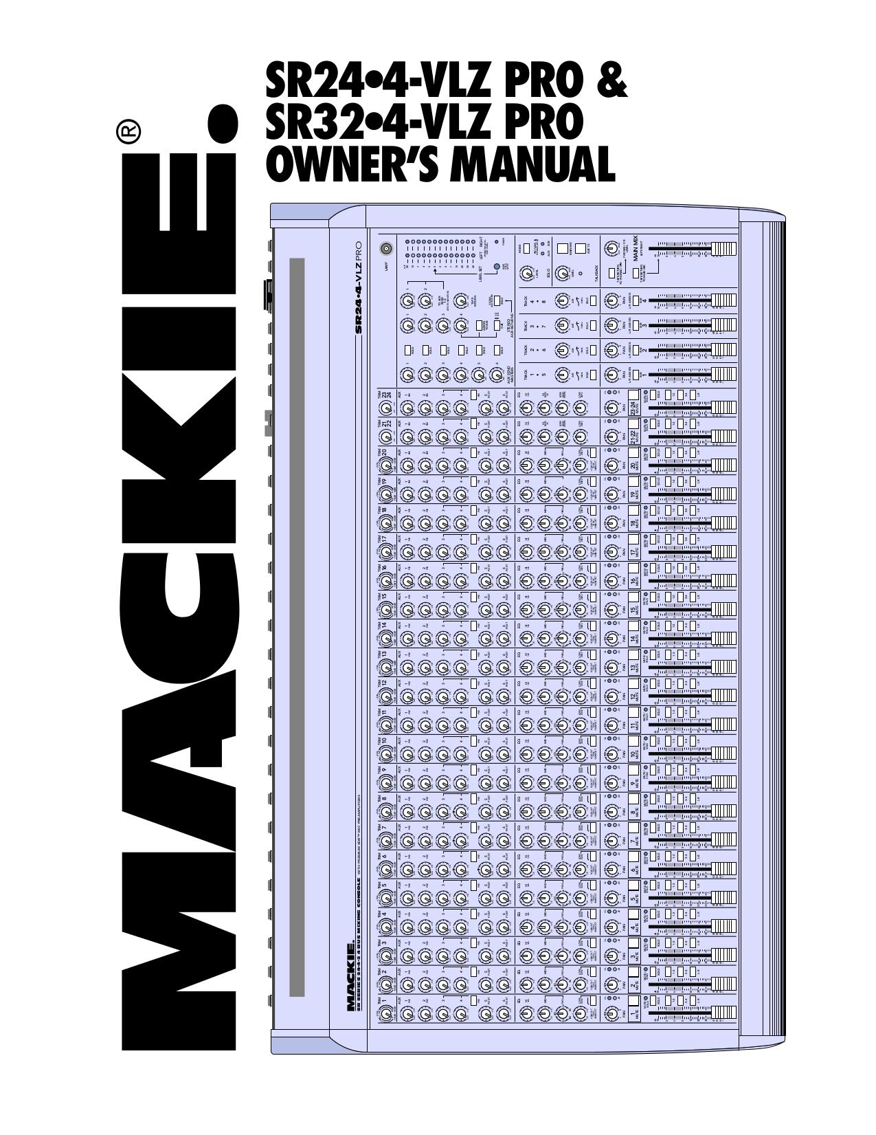 Mackie sr24 4 vlz manual
