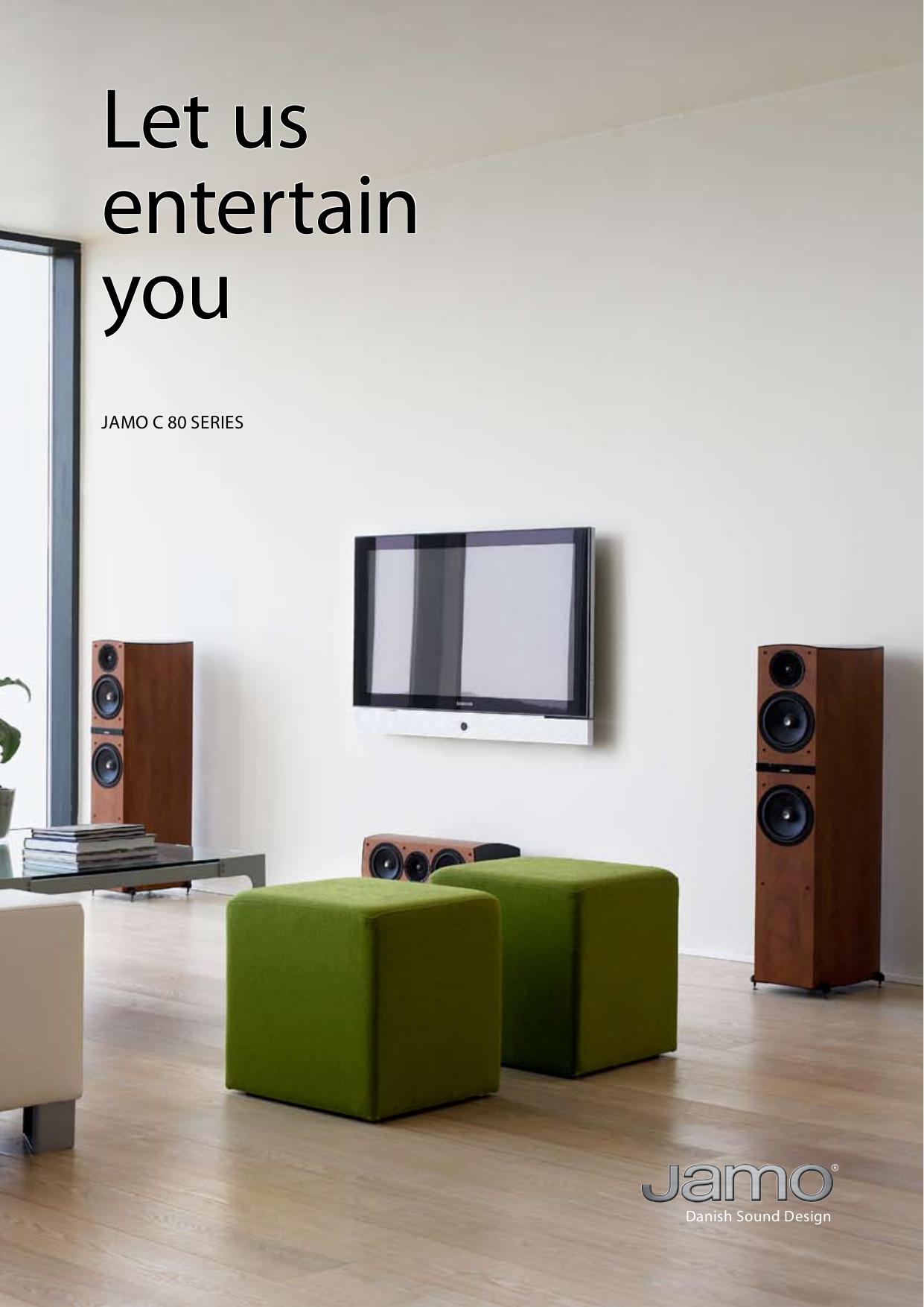 pdf for Jamo Speaker System C 80 SUB manual