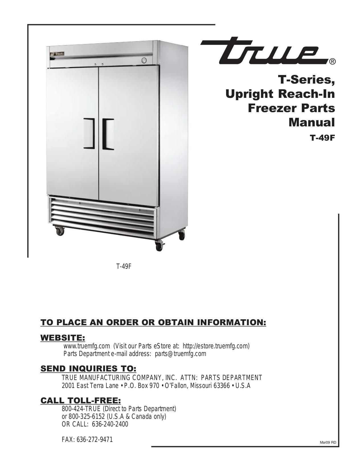 True t 12f service manual