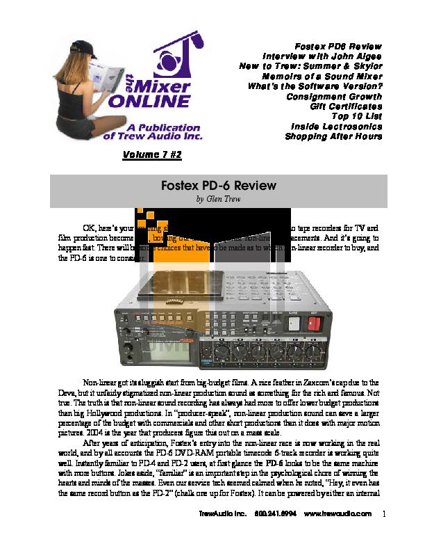 pdf for Fostex DVD Players DV-40 manual
