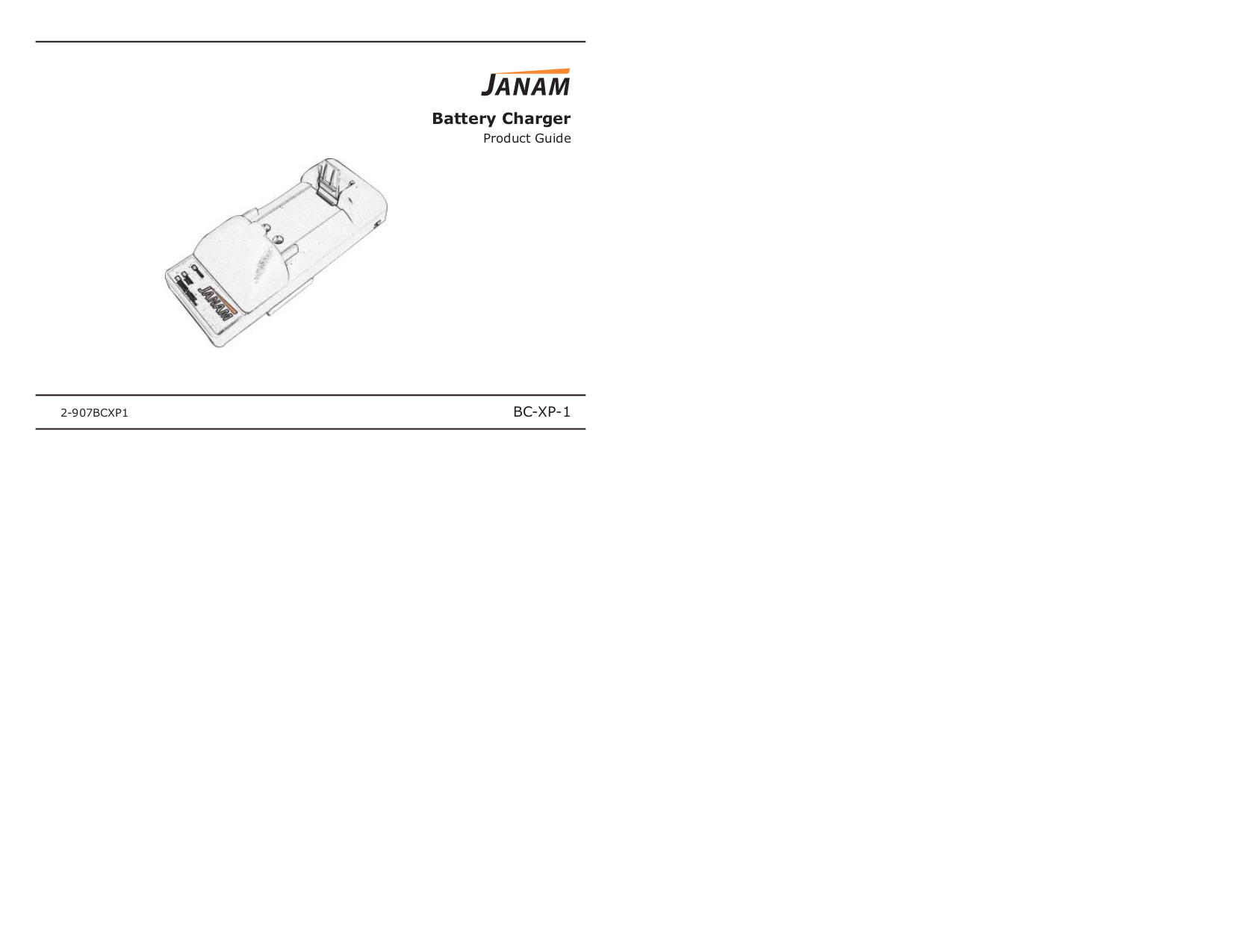 pdf for Janam Other BC-XP-1 Battery Charger manual