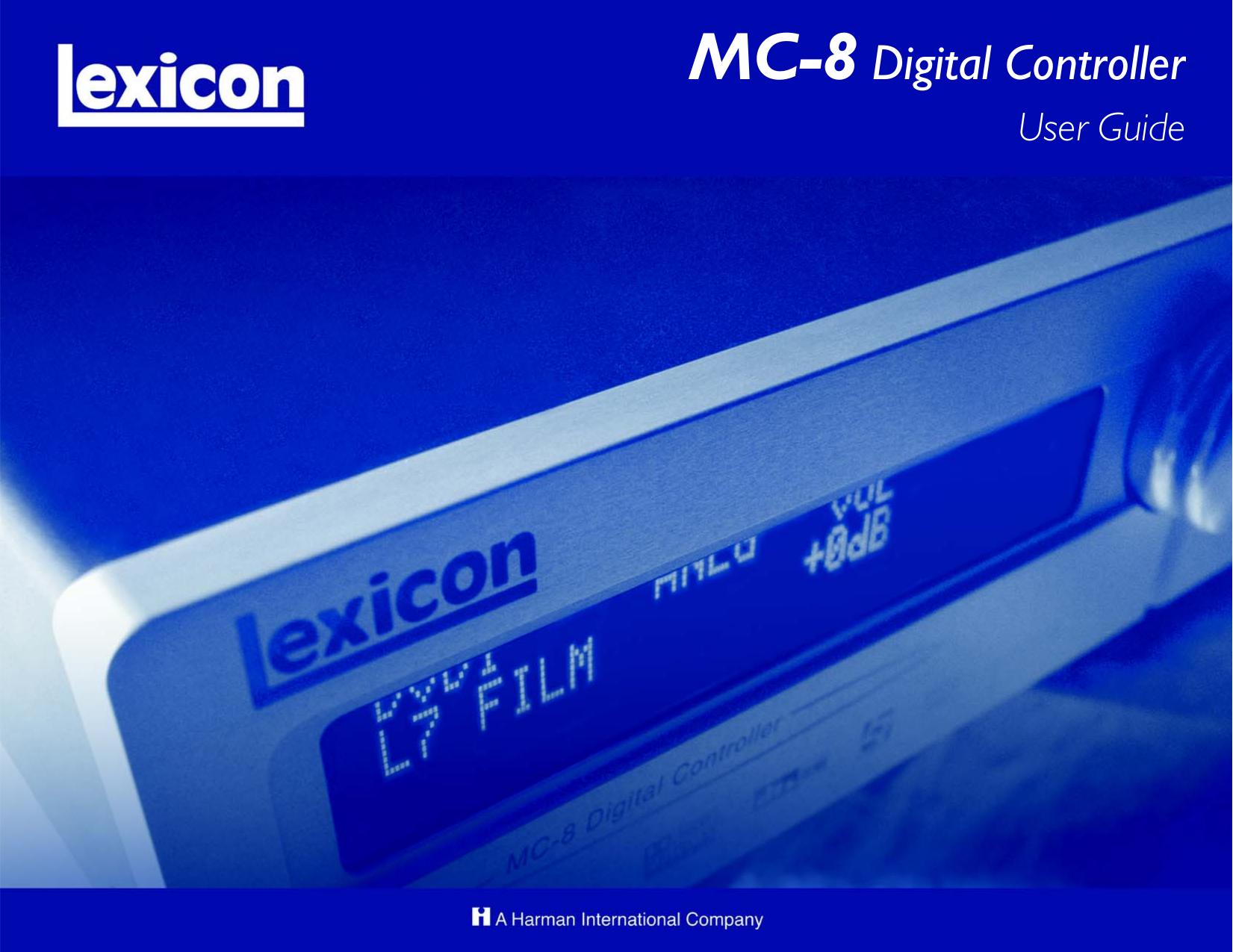 pdf for Lexicon Receiver MC-8 manual