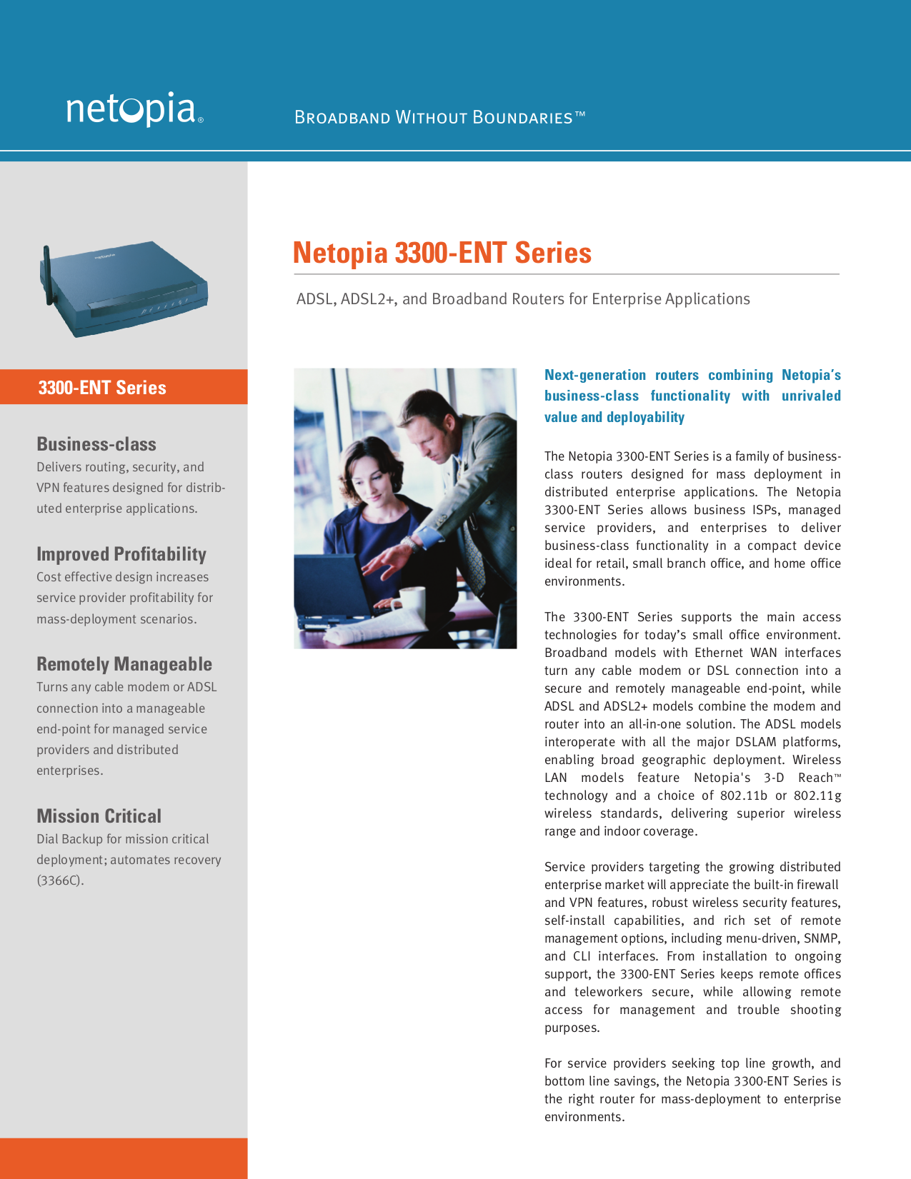 pdf for Netopia Wireless Router 3387WG-ENT manual