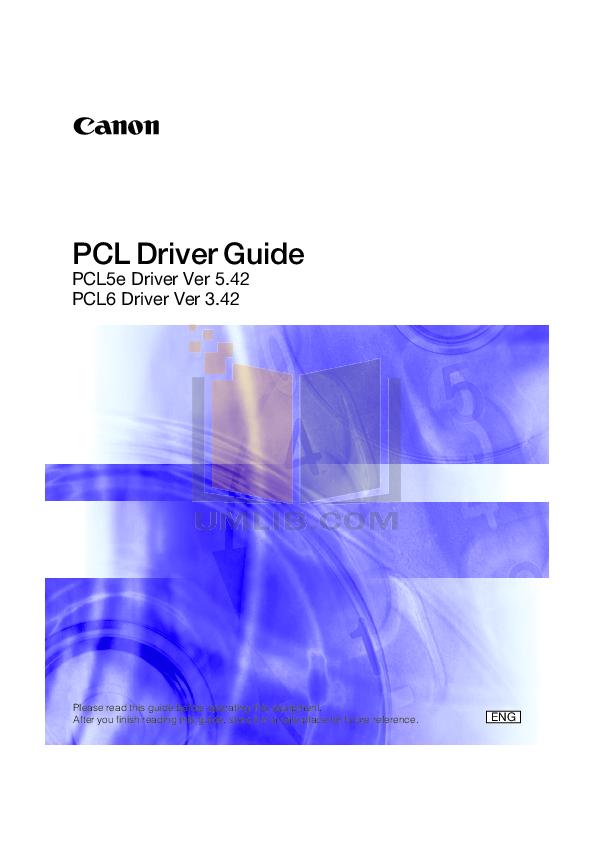 pdf for Canon Printer imageCLASS LBP-6000 manual