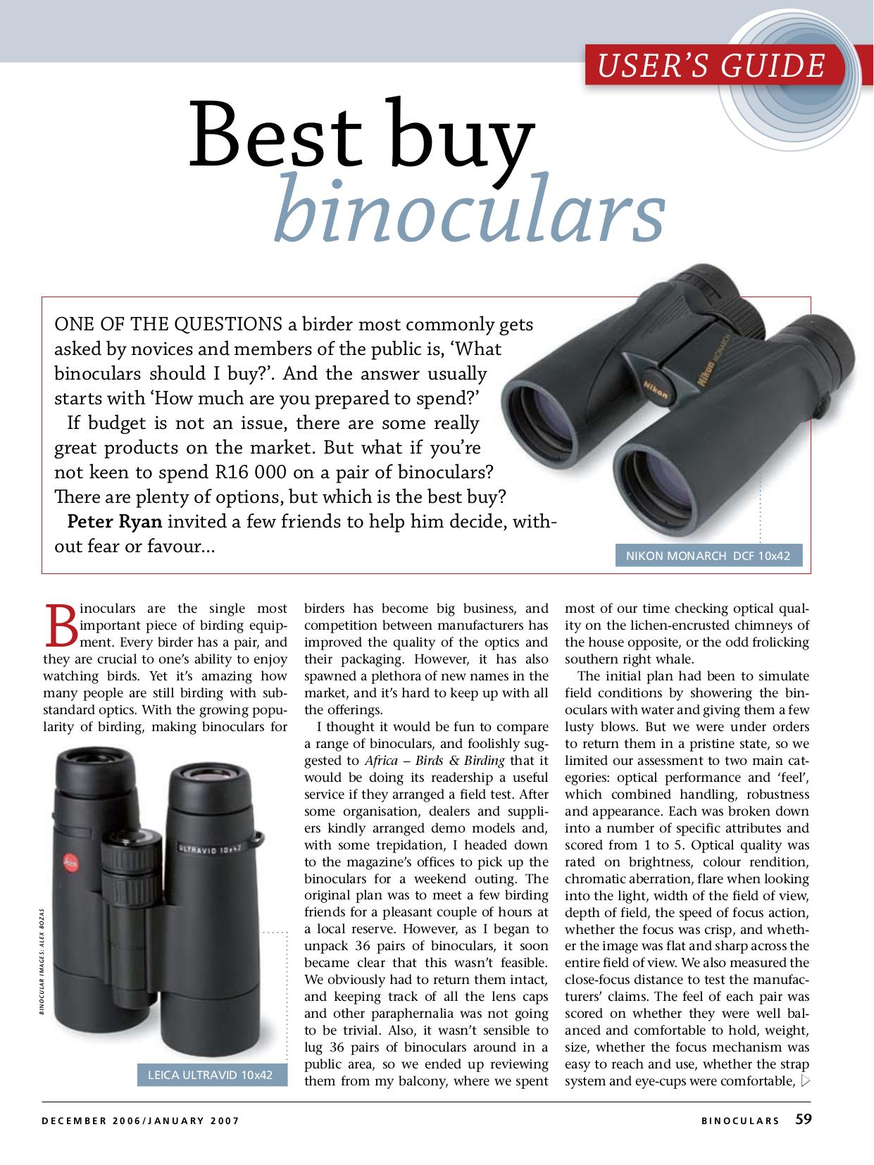 pdf for Leupold Binocular Pinnacles 10x42 manual