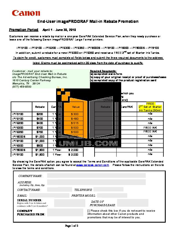 pdf for Canon Printer imagePROGRAF iPF6200 manual