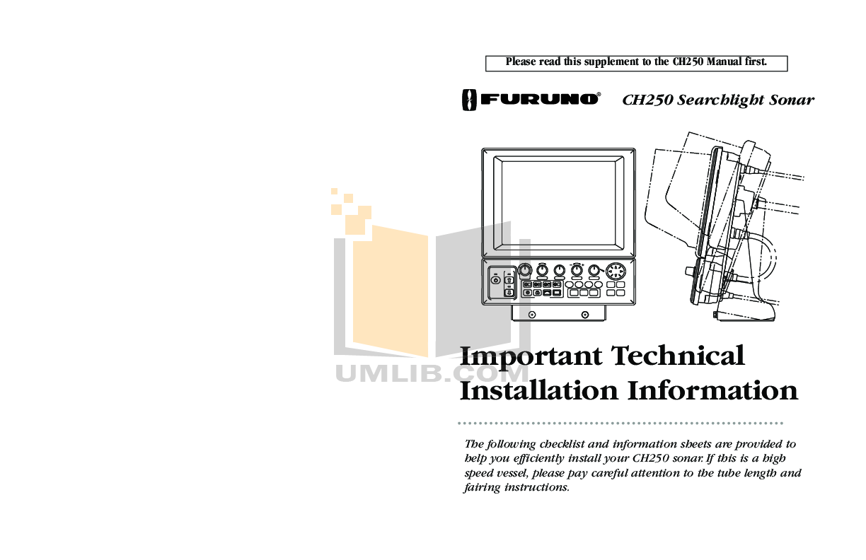 Download Free Pdf For Furuno Ch 250 Sonar Other Manual Wiring Diagram
