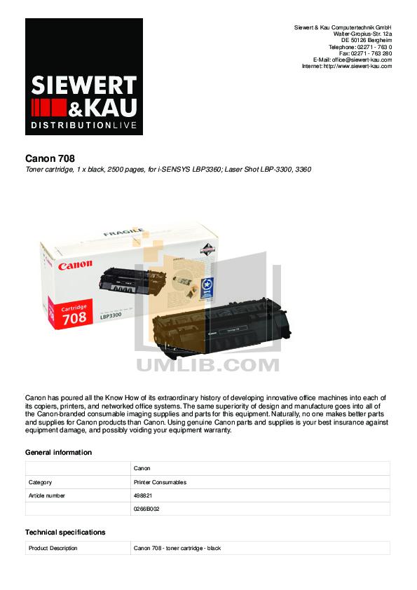 pdf for Canon Printer LBP-3360 manual