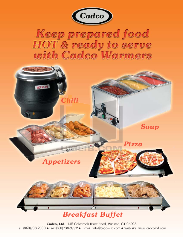pdf for Cadco Other WTBS-4 Buffet Servers manual