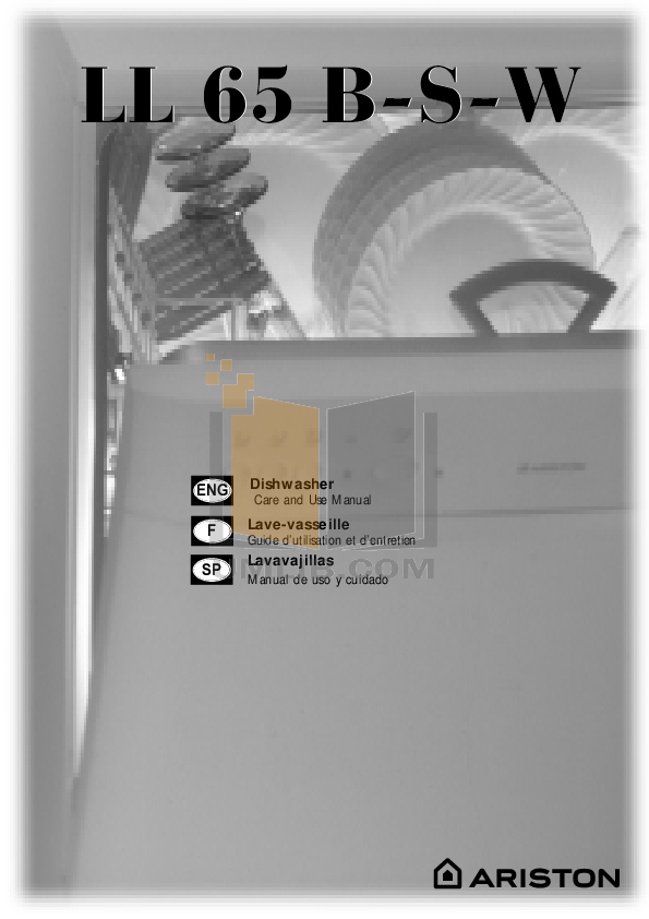 pdf for Ariston Dishwasher LL 65 W NA manual