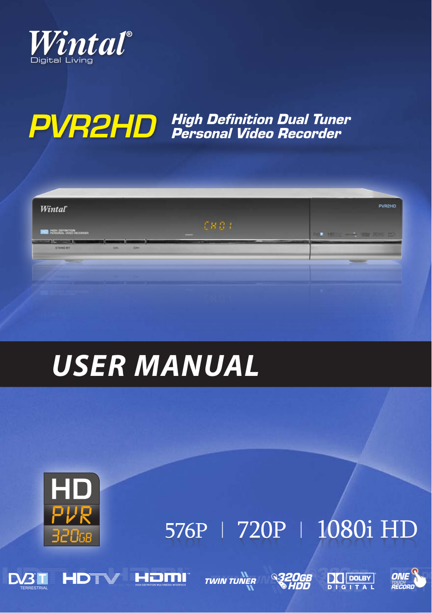 pdf for Wintal Other PVR-X1 Twin Tuners manual