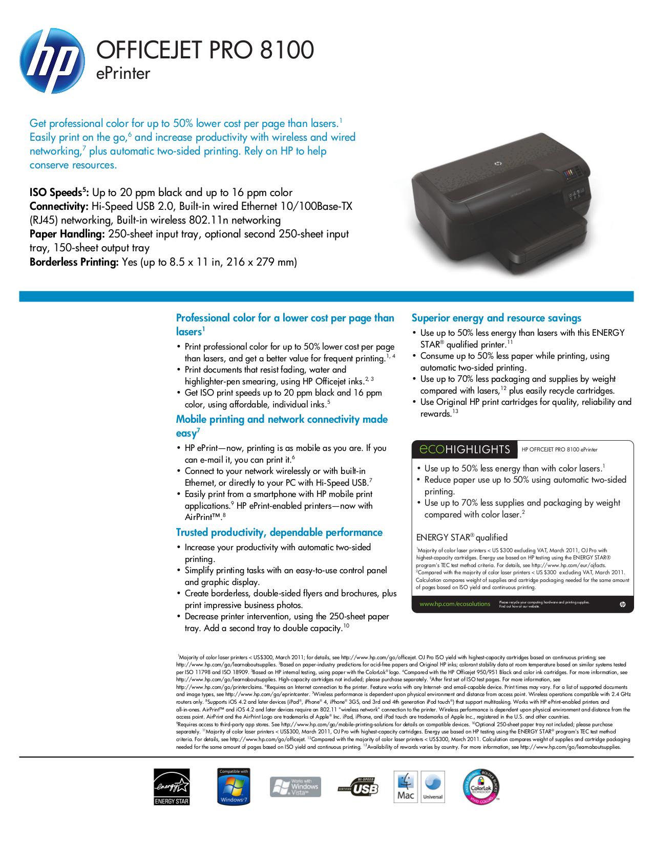 Hp laserjet 8100 Manual