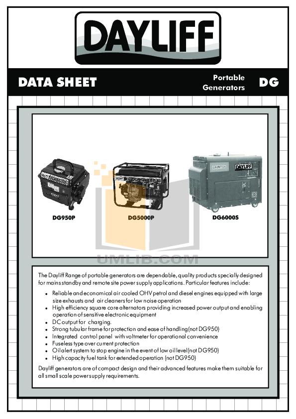 Dewalt dg6000 generator manual on