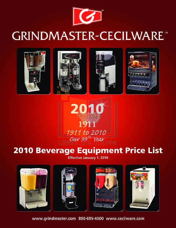 pdf for Cecilware Coffee Maker BC301E-IT Single manual