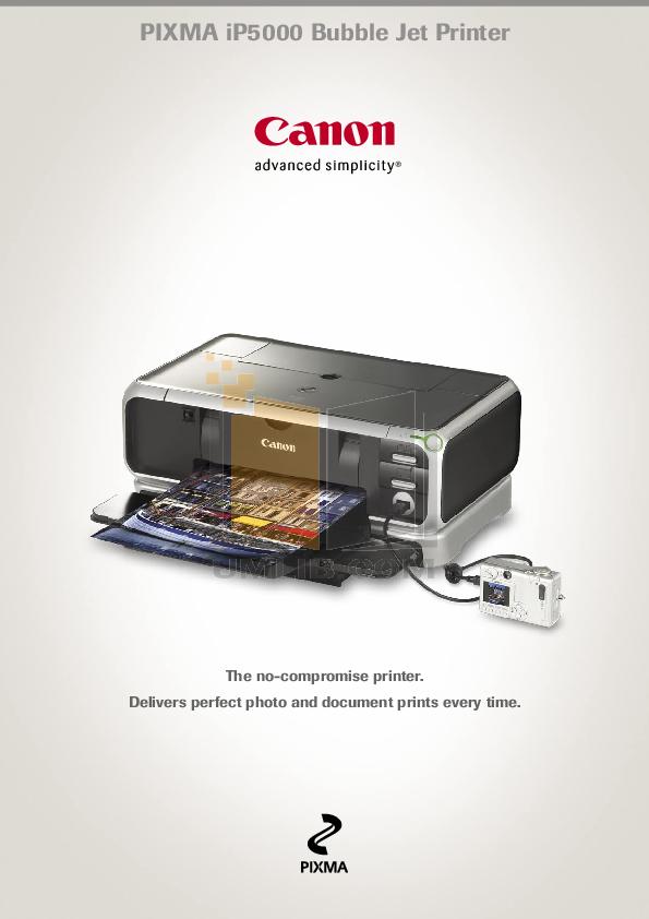 pdf for Canon Printer PIXMA iP5000 manual