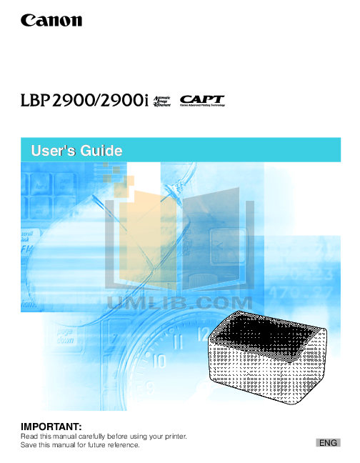 pdf for Canon Printer LBP-2900 manual