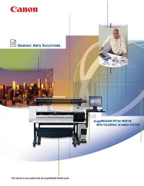pdf for Canon Printer imagePROGRAF iPF700 manual