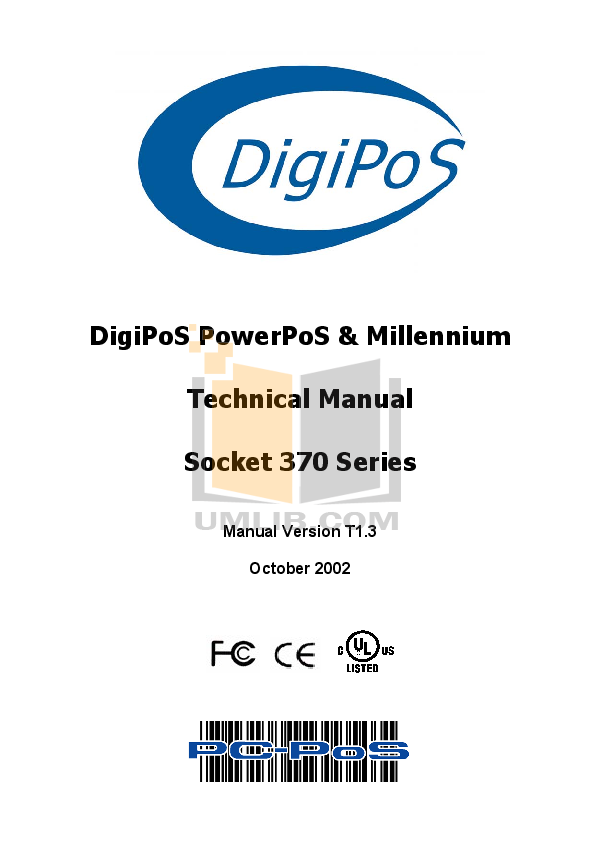 pdf for DigiPos Monitor TD1500 manual
