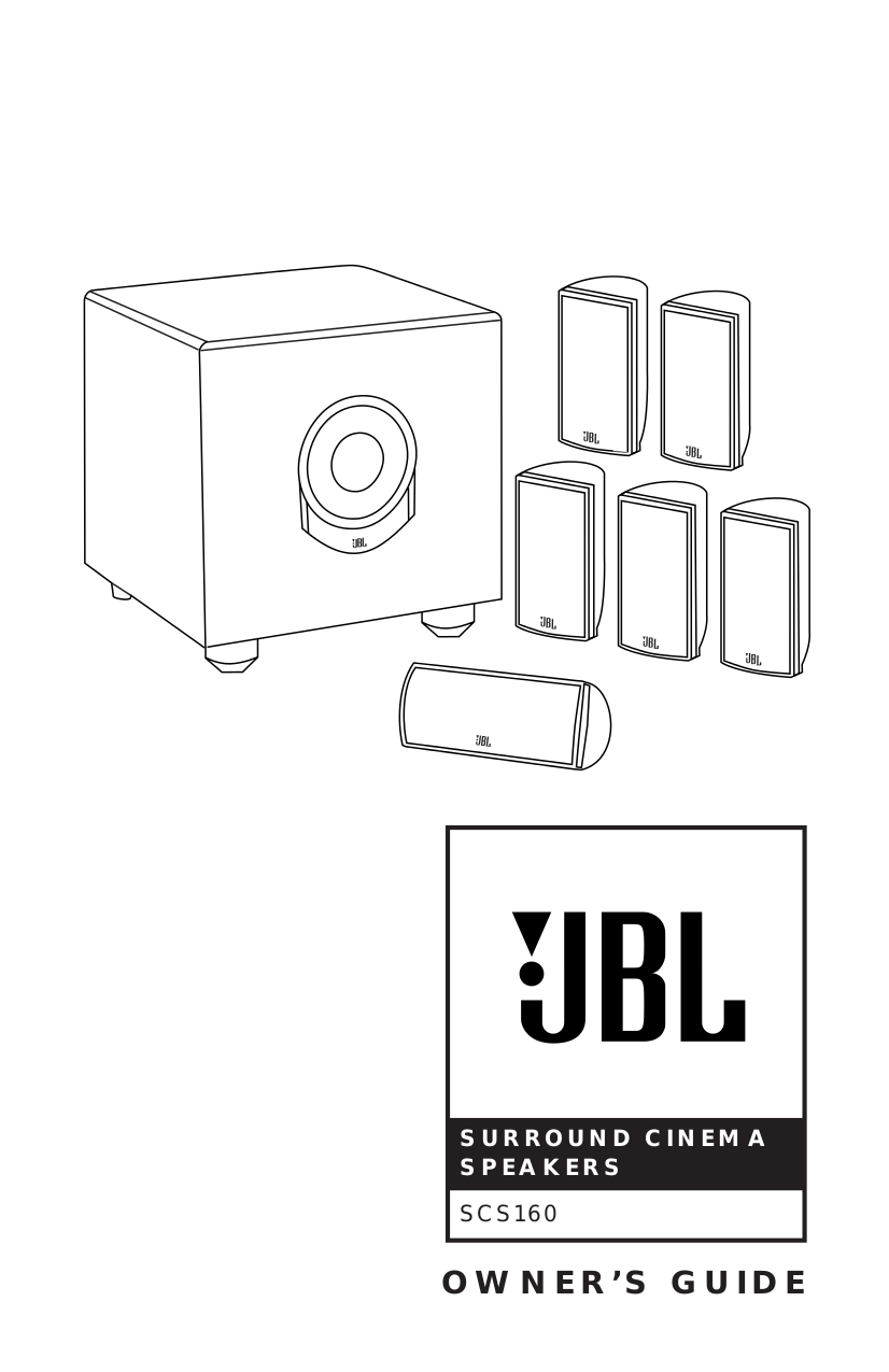 pdf for JBL Speaker System SCS160SI manual