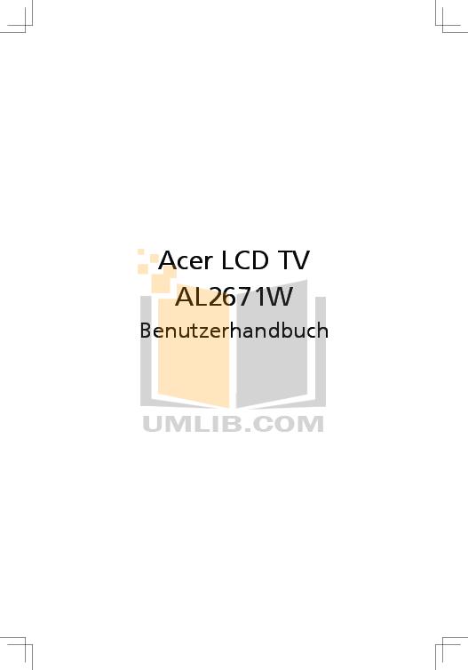 pdf for Acer Monitor AL2671W manual